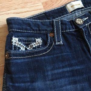 Big Star Shorts - Big Star Cuffed Dark Wash Denim Shorts